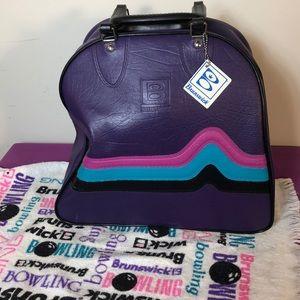 Brunswick Bowling Ball Bag Purple Fuchsia Teal